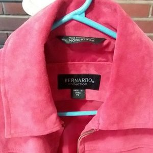 Suede beautiful flawless red jacket
